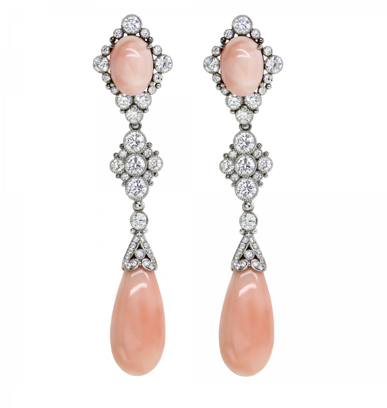 Angelskin Coral Earrings