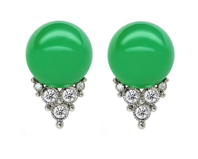 Green Chrysoprase Tops