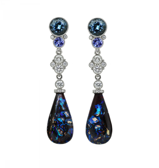 Matrix Opal Earrings Browner