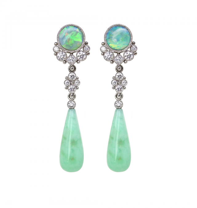 Geen Opal Earrings