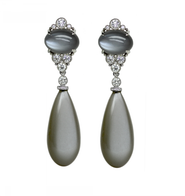 Greymoonstone Earrings