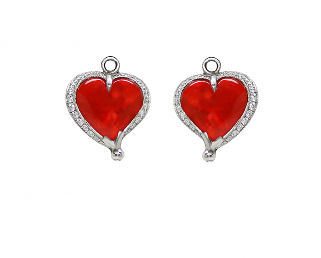 Heart Shaped Fire Opal Bellies