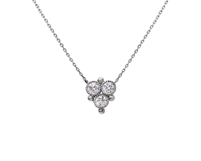 3 Diamond Chain Necklace