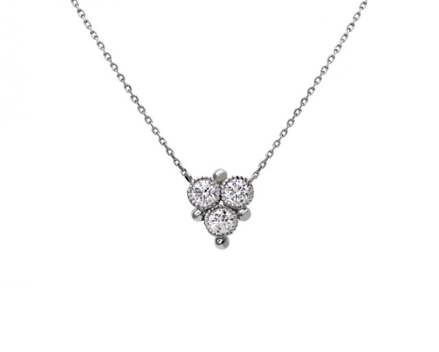 3 Diamond Chain Necklace
