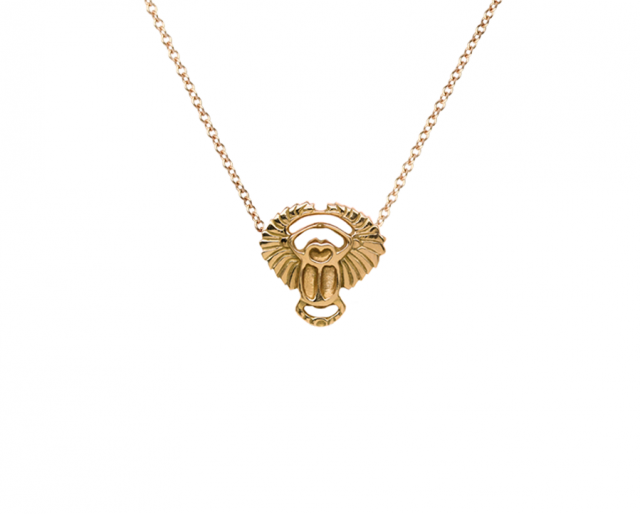 Gold Scarab Necklace