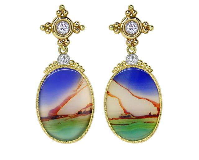 Landscape Agate Earrings