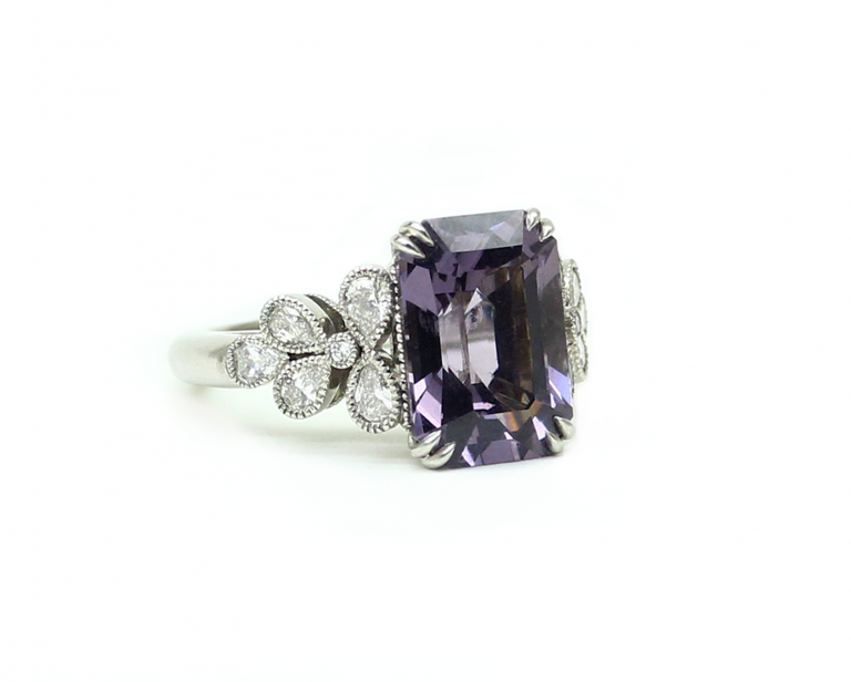 Purple Spinnel Ring