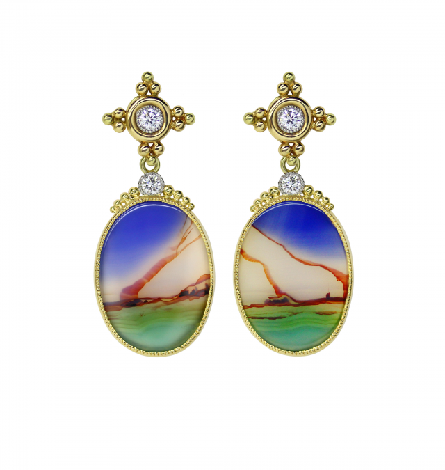 Landscape Agate Earrings